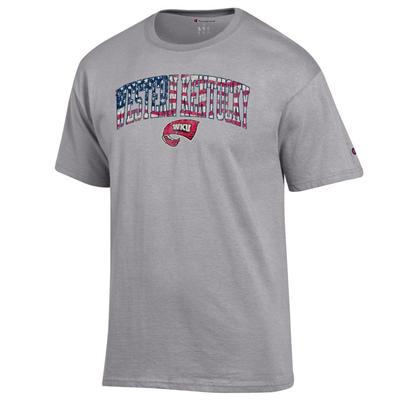 Western Kentucky Champion Arch Flag Fill Americana Tee