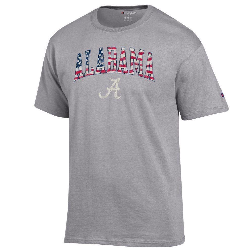 Alabama Champion Arch Flag Fill Americana Tee