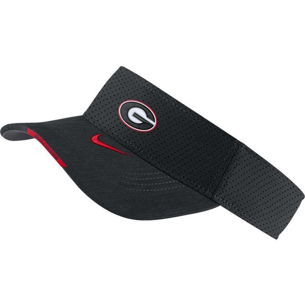 Georgia Men's Nike Aero Visor