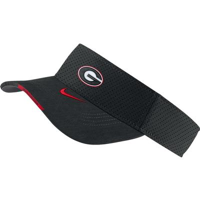 Georgia Men's Nike Aero Visor BLACK
