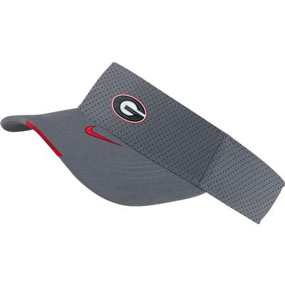 Georgia Men's Nike Aero Visor FLINT_GREY