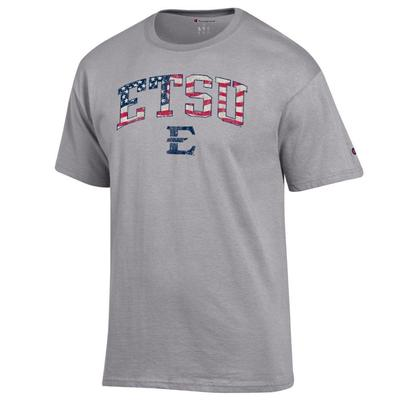 ETSU Champion Arch Flag Fill Americana Tee