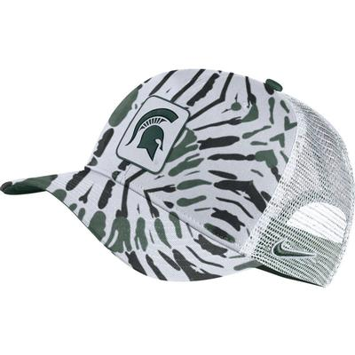 Michigan State Men's Nike C99 Patch Festival Print Trucker Hat