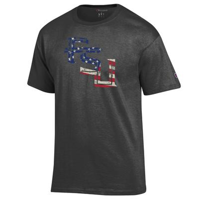 Florida State Champion Giant Logo Flag Fill Americana Tee