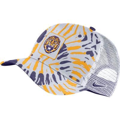LSU Men's Nike C99 Patch Festival Print Trucker Hat