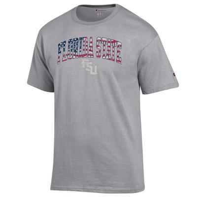 Florida State Champion Arch Flag Fill Americana Tee