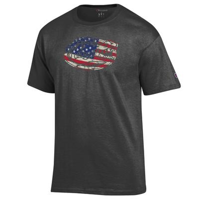 Florida Champion Giant Logo Flag Fill Americana Tee