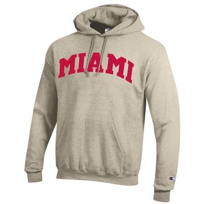 Miami Champion Men's Arch Oatmeal Screen Hoodie