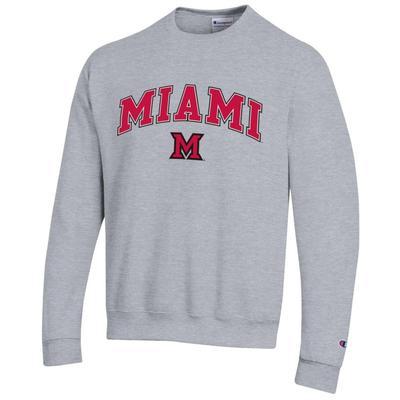 Miami Champion Arch Logo Fleece Crew