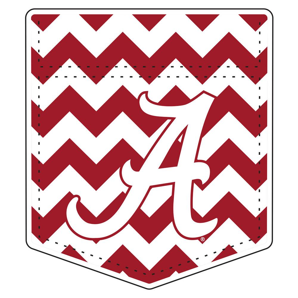 Alabama Car Magnet Chevron Pocket 6