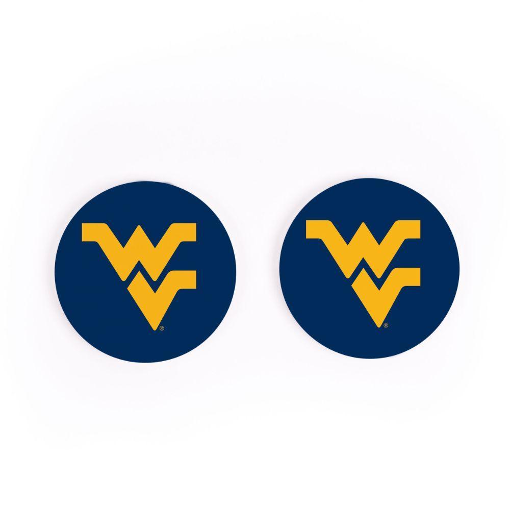 West Virginia 2pk Car Coaster