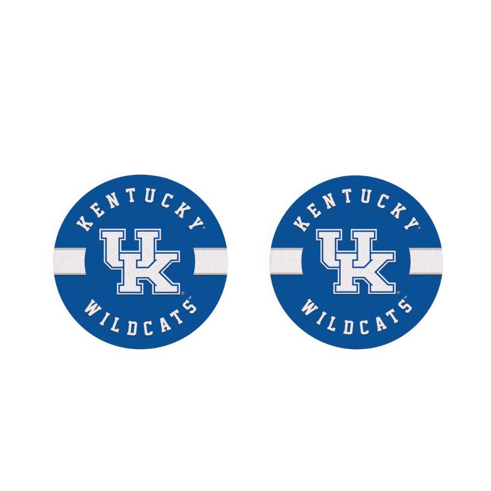 Kentucky 2pk Striped Car Coaster