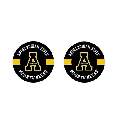 Appalachian State 2pk Striped Car Coaster