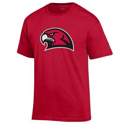 Miami Champion Giant RedHawk Logo Tee SCARLET