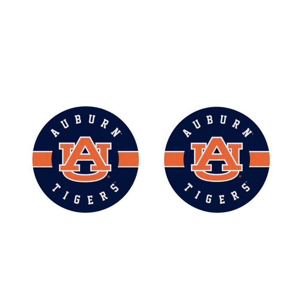 Auburn 2pk Striped Car Coaster