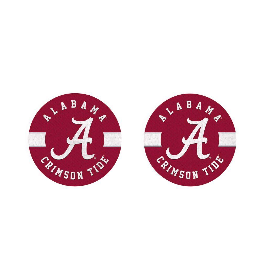 Alabama 2pk Striped Car Coaster