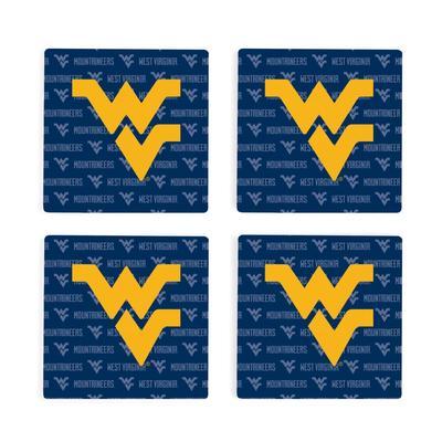 West Virginia 4pk Primary Repeat Logo Coaster