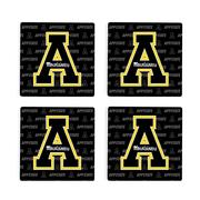 Appalachian State 4pk Primary Repeat Logo Coaster