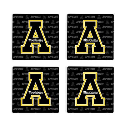 Appalachian State 4pk Primary Repeat Logo Coaster