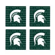 Michigan State 4pk Primary Repeat Logo Coaster