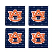 Auburn 4pk Primary Repeat Logo Coaster