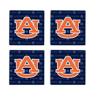 Auburn 4pk Primary Repeat Logo Coaster