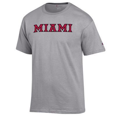 Miami Champion Beveled Font Tee