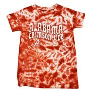 Alabama Wes And Willy Girls Tie Dye Retro Tee - Lighter Colors