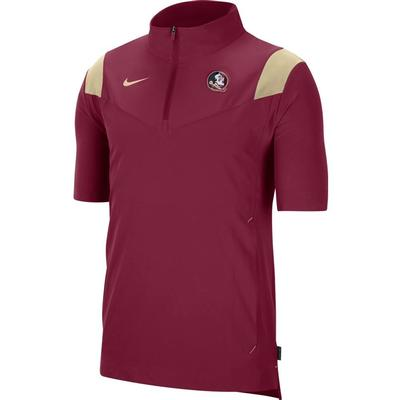 Florida State Men's Nike Coach Lightweight Short Sleeve Jacket
