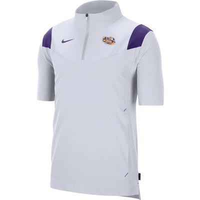 LSU Men's Nike Coach Lightweight Short Sleeve Jacket