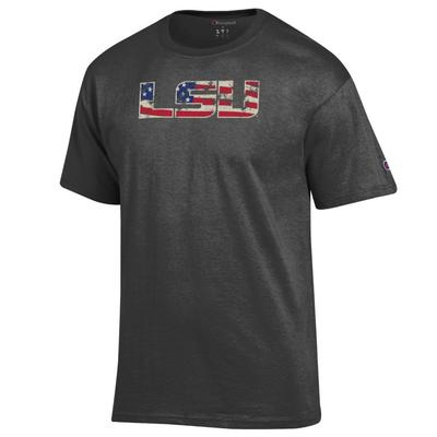 LSU Champion Giant Logo Flag Fill Americana Tee