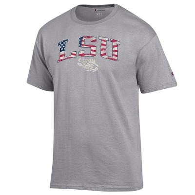 LSU Champion Arch Flag Fill Americana Tee