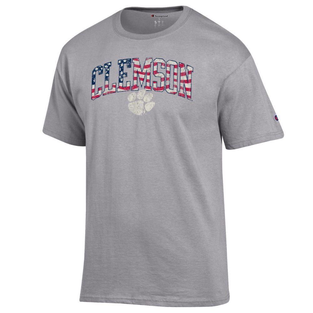 Clemson Champion Arch Flag Fill Americana Tee