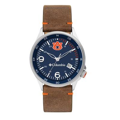 Auburn Columbia Canyon Ridge Leather Watch