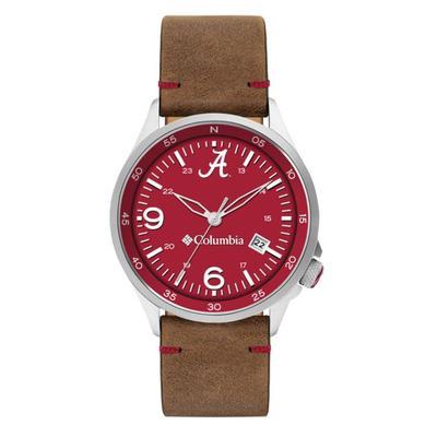 Alabama Columbia Canyon Ridge Leather Watch