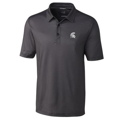 Michigan State Cutter & Buck Men's Pike Mini Pennant Print Polo