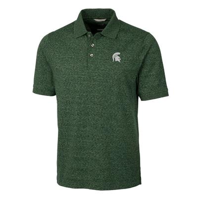 Michigan State Cutter & Buck Men's Advantage Space Dye Polo