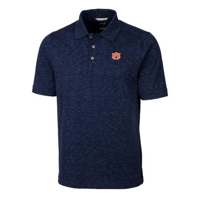 Auburn Cutter & Buck Men's Advantage Space Dye Polo
