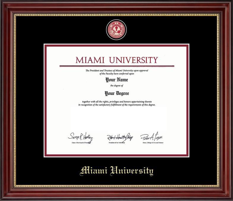 Miami University Medallion Diploma Frame