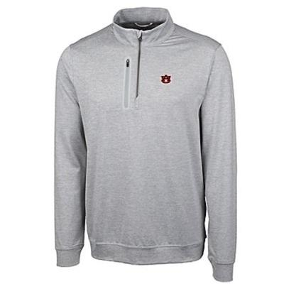 Auburn Cutter & Buck Men's Stealth Half Zip Pullover