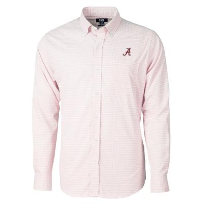 Alabama Cutter & Buck Men's Versatech Tattersall Button Up