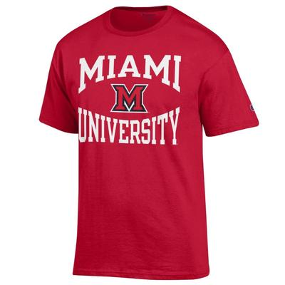 Miami Champion Miami University with M Logo Tee