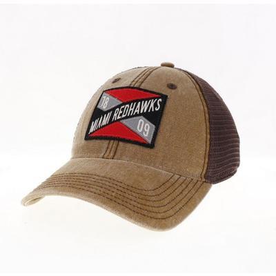 Miami Legacy Frayed X Trucker Hat