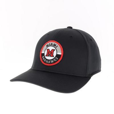 Miami Legacy CFX Structure Flex Fit Circle Road Patch Hat
