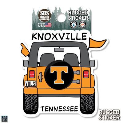 Tennessee Seasons Design Cartoon Jeep 3.25