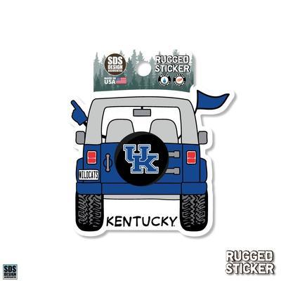 Kentucky Seasons Design Cartoon Jeep 3.25
