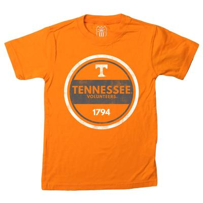 Tennessee Kids Circle Graphic Short Sleeve Tee