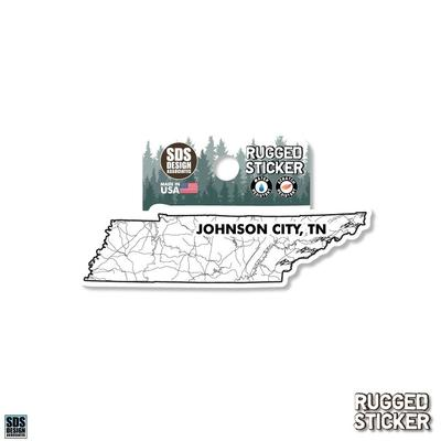 Seasons Design Johnson City State Map 3.25