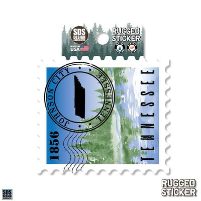 Seasons Design Johnson City State Stamp 3.25