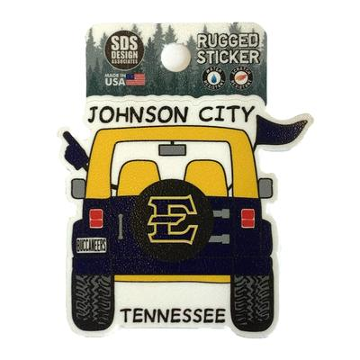 ETSU Seasons Design Cartoon Jeep 3.25